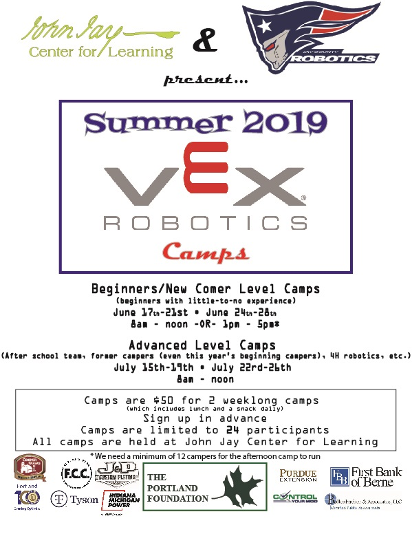 2019 VEX Robotics Summer Camps