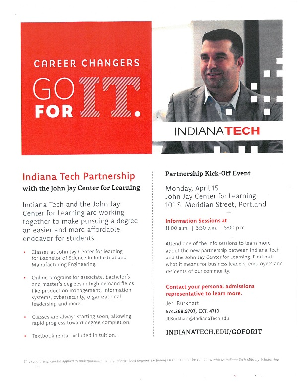 Indiana Tech Partnership Flyer
