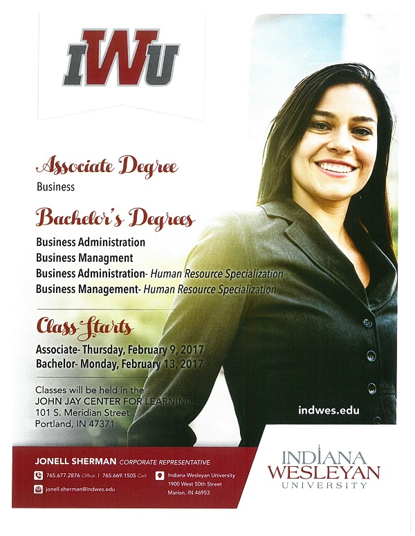 IWU Associate and Bachelors Degrees 2017
