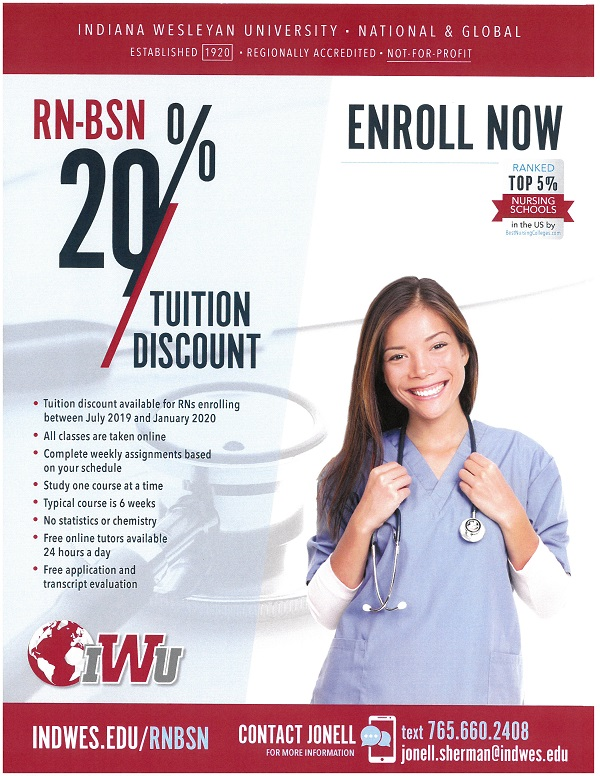 Indiana Wesleyan University Nursing Discount