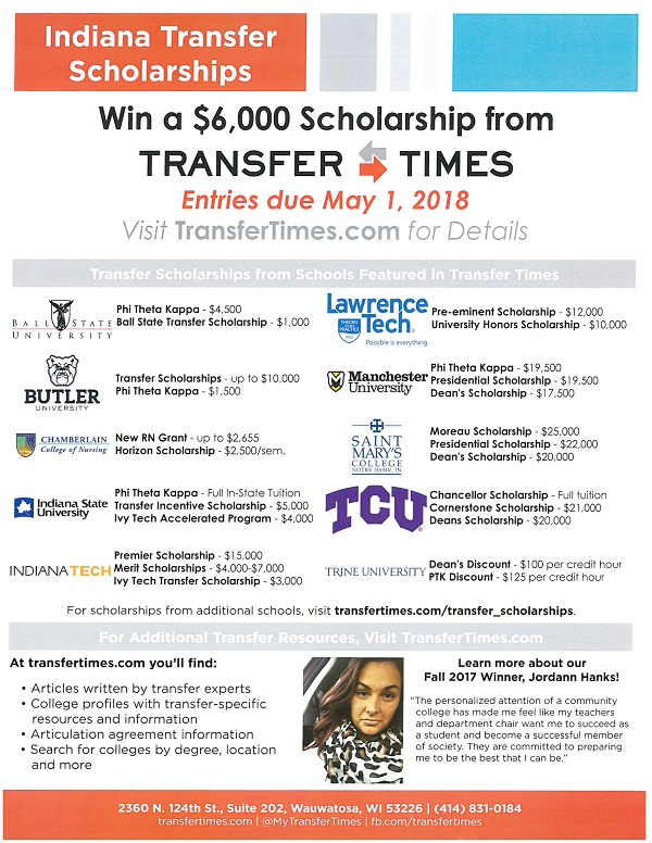 Indiana Transfer Scholarships