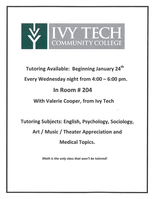 Ivy Tech Tutoring Schedule 2018