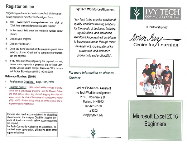 Ivy Tech Microsoft Excel