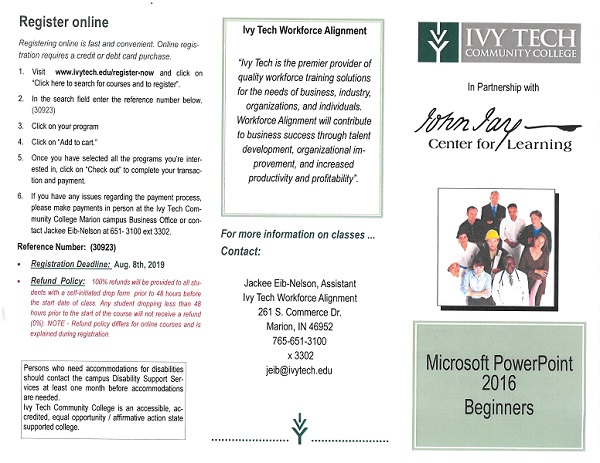 Ivy Tech Microsoft Powerpoint