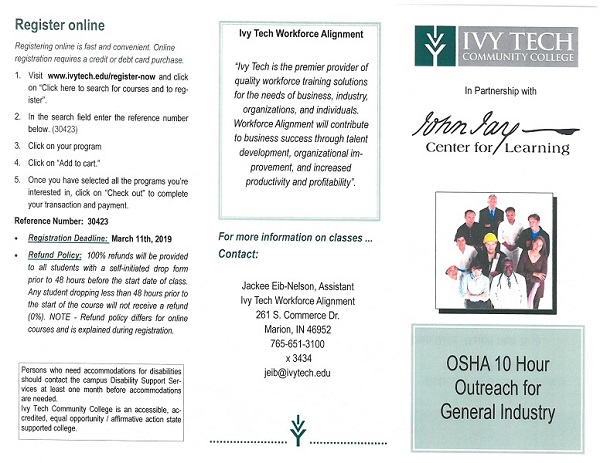 OSHA 10 Hour General Industry Outreach