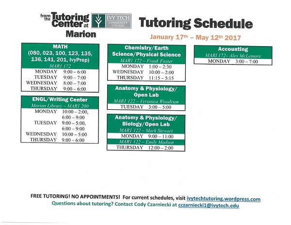 Marion Ivy Tech Tutoring 17