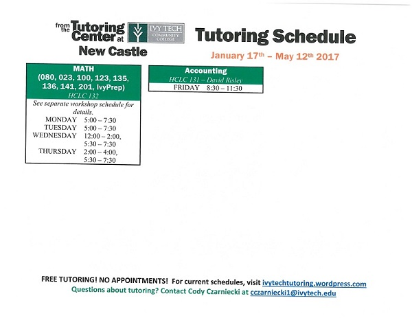 New Castle Ivy Tech Tutoring 17
