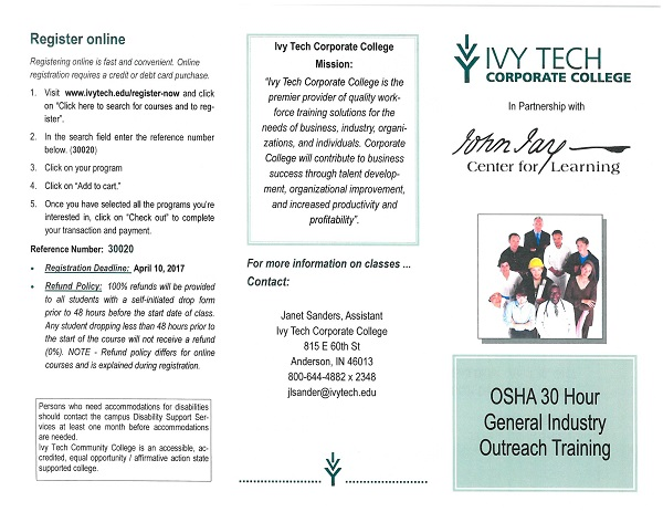 OSHA 30 Hour General Industry Training