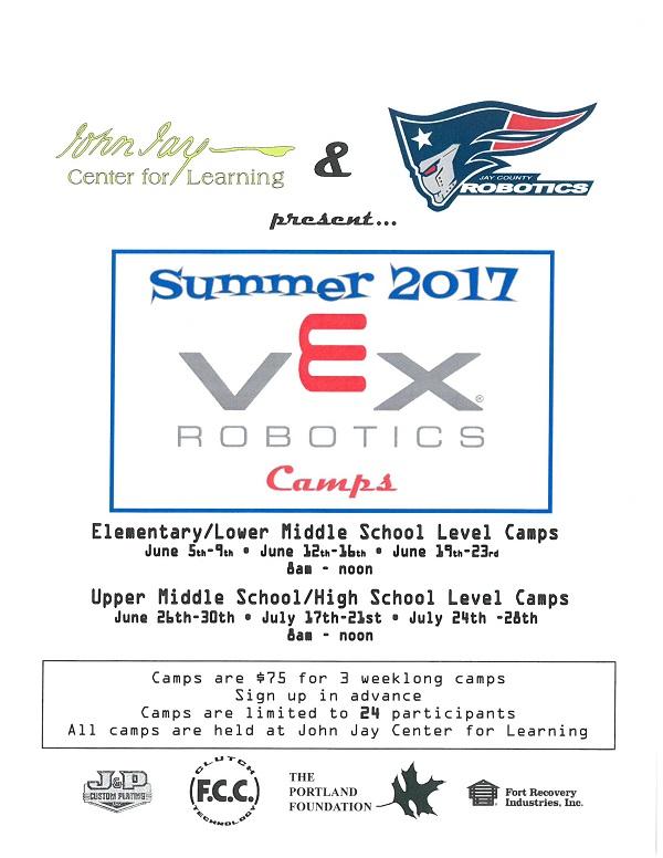 Summer 2017 VEX Robotics Camps